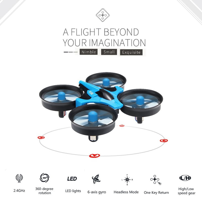 Original JJRC H36 Mini Drone 6 Axis RC Micro Quadcopters With Headless Mode One Key Return