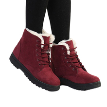Women's Winter Sheepskin Thick Fur Ankle Boots