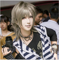 Fashion Harajuku Full Synthetic Wigs 35CM Silver Grey Short Hair Wigs Male Wig Cosplay Hair Paragraph