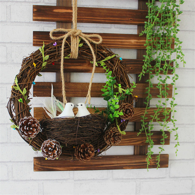 Garland Wreaths DIY Easter Decorations For Home Wedding ...