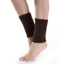 Droppsh 1pair Sexy Women Ladies Leg Warmers Autumn Winter Warm Foot Boots Socks Hemp Flowers Knit Toppers Boot Short Sock Cuffs dg88(China)