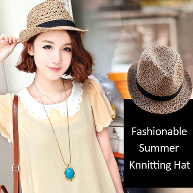 2016 Fashionable Summer Women s Hats Beach For Women Sun Hats For Girls  Ladies Straw Hat Panama Kentucky Summer Boater a990ddc42e8