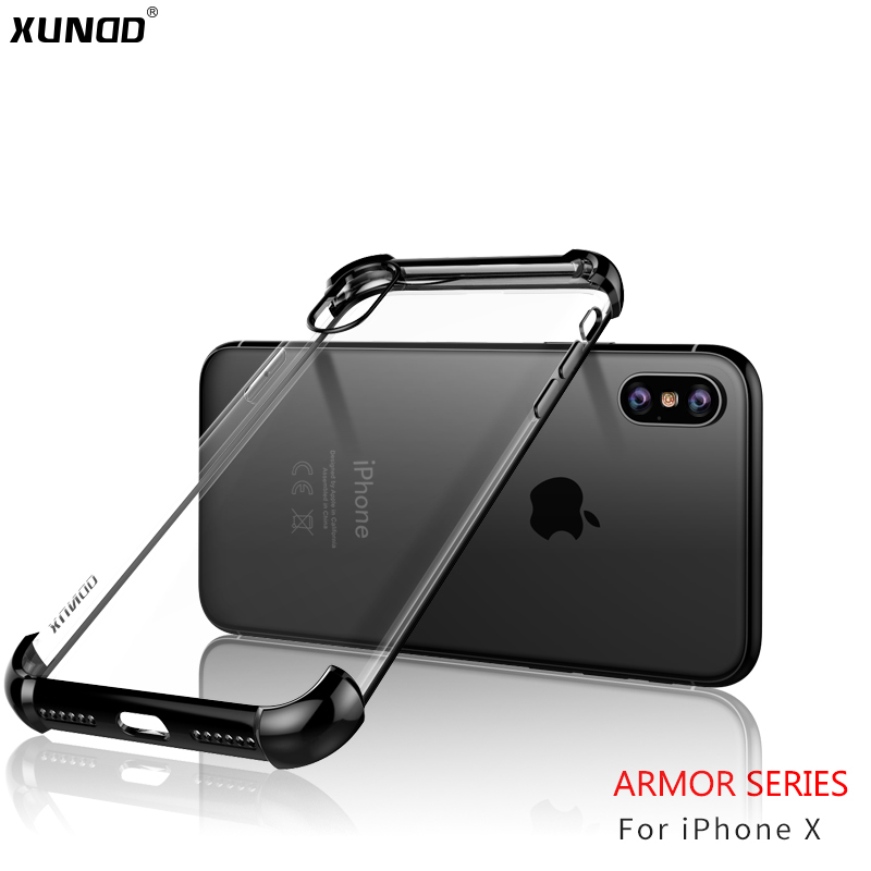 premium selection fa195 16344 US $13.98 |XUNDD Armor Series For iPhone X Case Luxury Light Armor Case  Slim Plastic Back Cover Full Protective Mobile Phone Cases Shell-in Phone  ...