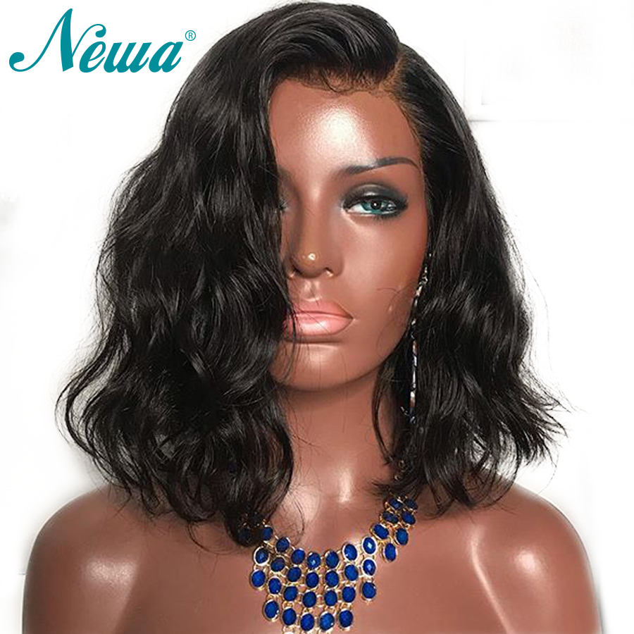 Newa Hair 13x6 Lace Front Human Hair Wigs Remy Wavy Lace Front Wig Pre Plucked With Baby Hair Brazilian Wigs For Black Women