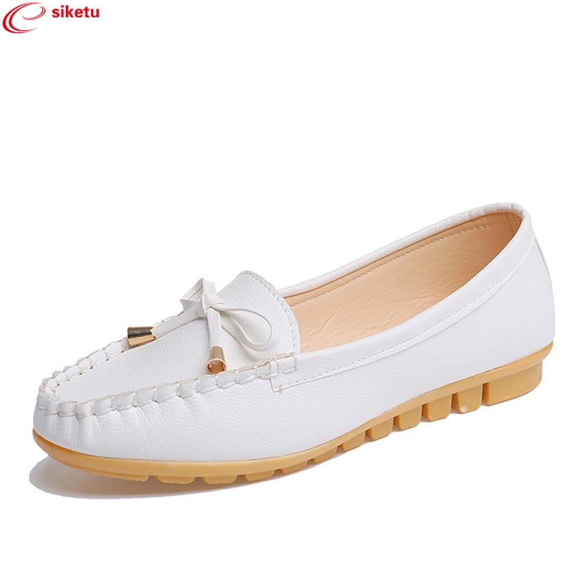 Charming Nice siketu 2017 Fashional Women Flats Shoes Slip On Comfort Shoes Flat Shoes Loafers Best Gift Drop Shipping Y30 charming nice siketu best gift baby flats tassel soft sole cow leather shoes infant boy girl flats toddler moccasin y30