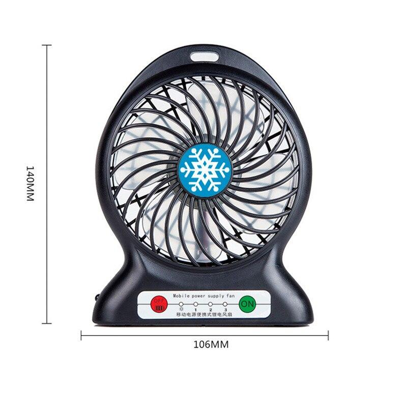 Portable Rechargeable mini usb fan gadget ventilador portatil ventilateur fans 18650 battery powered for table laptop cooling