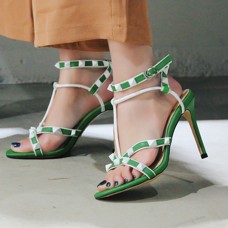 2018 new genuine leather summer women sandals shoes ankle strap open toe thin high-heeled shoes sexy women pumps plus size 34-43 plus size 34 43 new summer shoes woman open toe women ankle strap wedges sandals casual low heel sandals women sandals