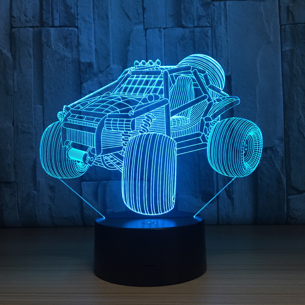 Mountain Car 3D LED Lamp Night Light Acrylic Table lamp Touch 7 Colors Changing USB Motorcycle Sleeping Light for Birthday Gift