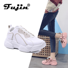 FUJIN Brand Women Casual Sneaker Flats 2019 Fashion Female Shoes Pink Comfortable for
