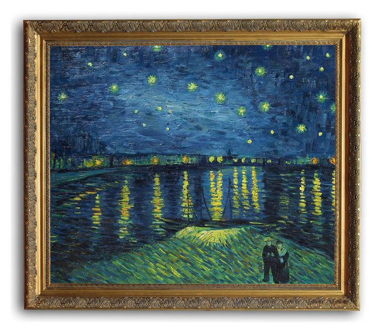 6046 Wooden Oil Painting Frames Starry Night Over the Rhone Van Gogh ...