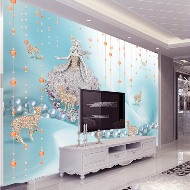 Free Shipping jewelry bead curtain wall painting bedroom lobby ...