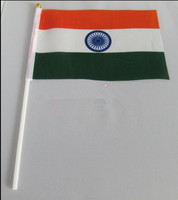 Flag of India, Indian hand flag, hand wave flags India 14 * 21CM Office / Events / Parade / Festival / home decoration    India