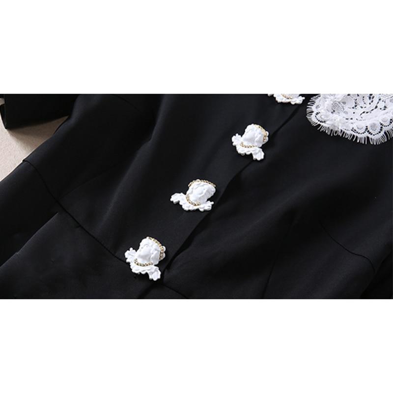 2018 Mode Femmes Manches Courtes Robe De Designer Peter Haute Col Pan À mollet Mi Qualité Piste Nouvelle qwqIt1