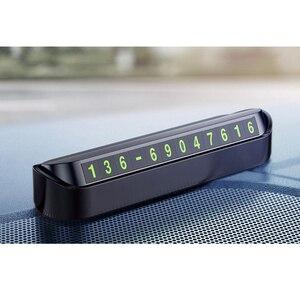 Image 1 - 1 Set Auto di Parcheggio Temporaneo Del Telefono Numero Magnetico Piastra della Scheda di Auto Nastro adesivo Auto Parco di Parcheggio Slot Per Schede accessori Per auto