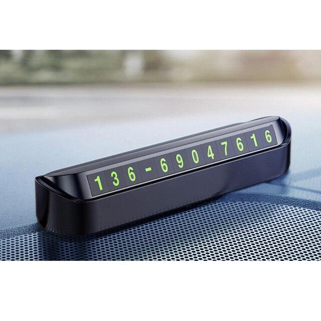 1 Set Auto di Parcheggio Temporaneo Del Telefono Numero Magnetico Piastra della Scheda di Auto Nastro adesivo Auto Parco di Parcheggio Slot Per Schede accessori Per auto