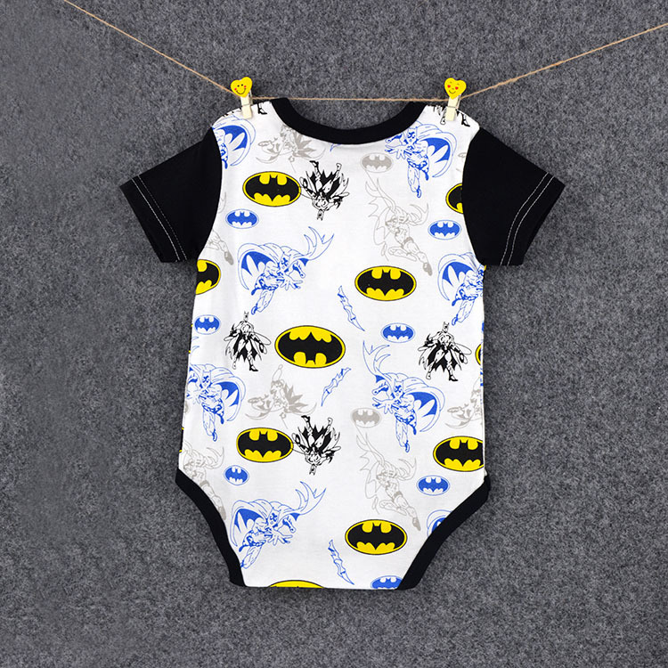 HTB15rBOD9tYBeNjSspkq6zU8VXaJ 2018 Summer Newborn Baby Girl Clothes Cartoon Baby Boy Rompers Spiderman Batman Unisex Baby Rompers Cartoon Animal Clothing Set