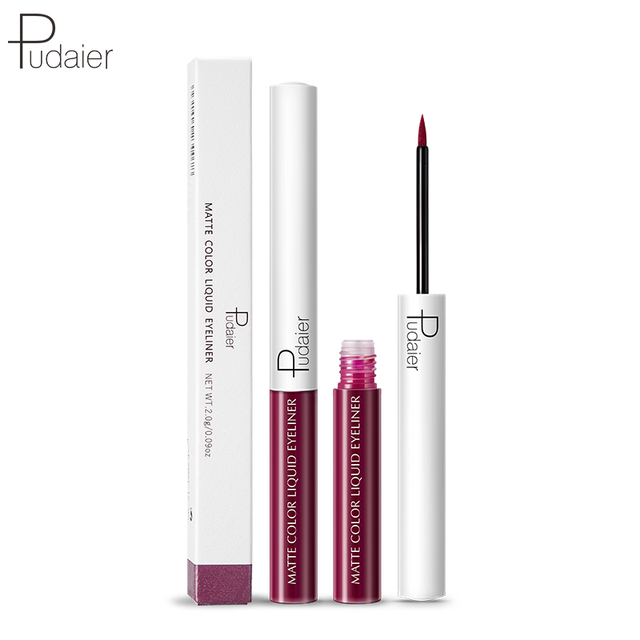 Pudaier Matte Liquid Eyeliner Waterproof Long-lasting Pigment Green Purple Red Orange Color Sexy Eye Liner Party Beauty Cosmetic 5