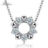 Kaletine Klasyczne serce Naszyjnik Choker Chain Oryginalne Double Star CZ Kryształ Kobiety Biżuteria