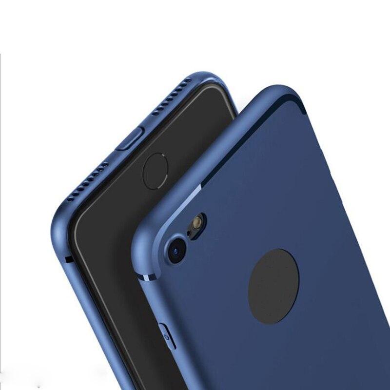 Luxury Slim Silicone Case For IPhone 6 Case 6 Plus 7 Plus 5 5S SE Cover