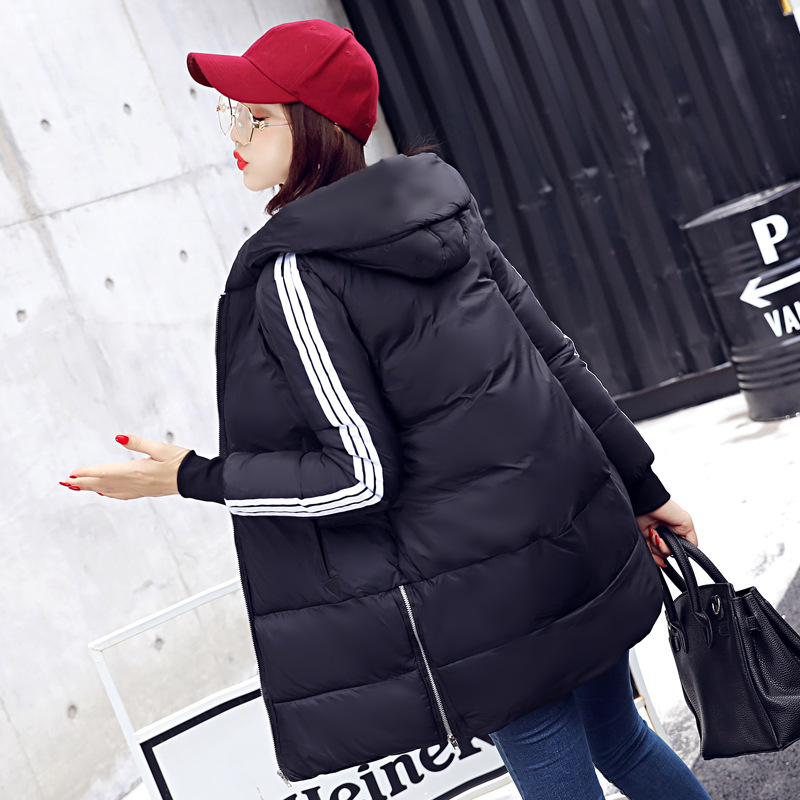 New 2017 Fashion Winter Parkas Long Hooded  Patterns  Zipepr Warm Thickken Cotton Padded Loose Jacket Female Coat Women Outwear women s cotton padded long jacket winter leisure wild long cashmere wool liner coat casual pocket zipepr parkas mujer jy 805