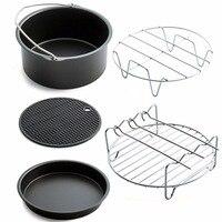 PREUP Air Frying Pan Accessories Five Piece Fryer Baking Basket Pizza Plate Grill Pot Mat Multi