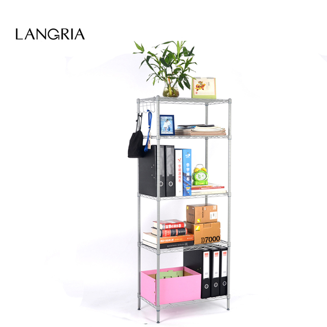 Wire Rack Shelving For Kitchen | Langria 5 Tier Classic Wire Storage Rack Shelving Rack Shelving Unit