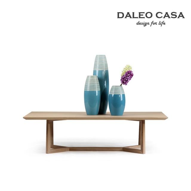 Daleo Casa White Oak Wood Coffee Table Scandinavian Designer Furniture Modern Minimalist Ikea Style Tea And A Few