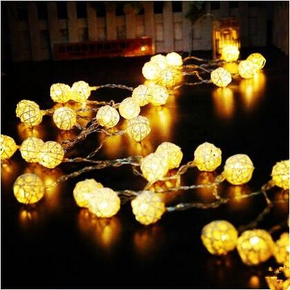 5M New Year Ball Garland LED Christams Lights Natal Garlands Cristmas Decoration LED String Fairy Lights Luces De Navidad