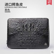 gete Men's leather crocodile men handbag business casual male big bag high-grade large capacity briefcase man clutches