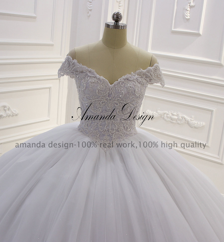 US $4.4 14% OFFAmanda Design hochzeitskleid Off Shoulder Lace Appliqued  Ball Gown Wedding DressWedding Dresses - AliExpress