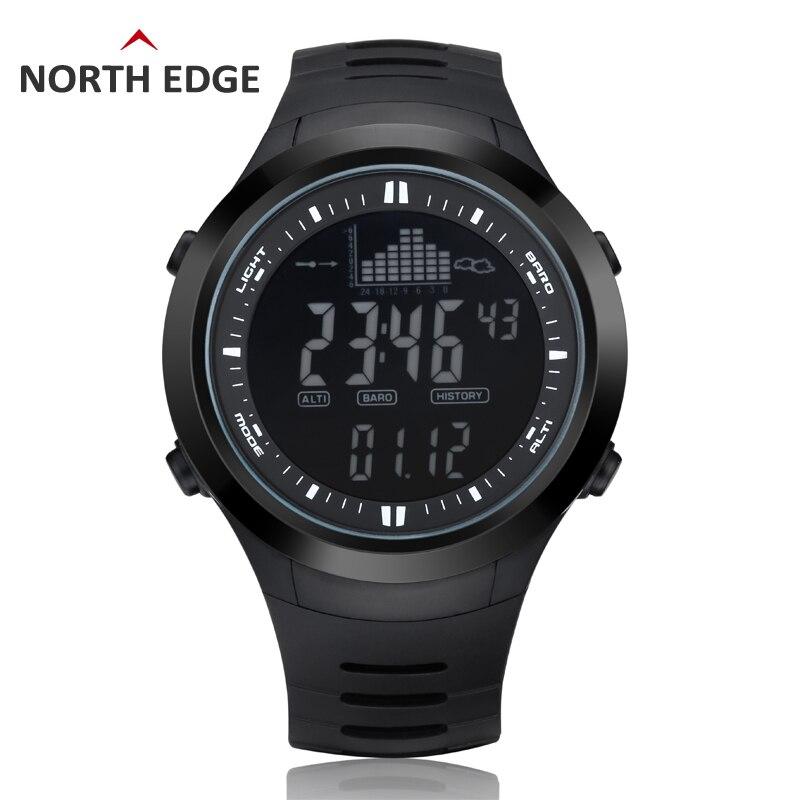Numérique-montre Hommes montres extérieure numérique montre horloge de pêche altimètre baromètre thermomètre altitude escalade randonnée heures