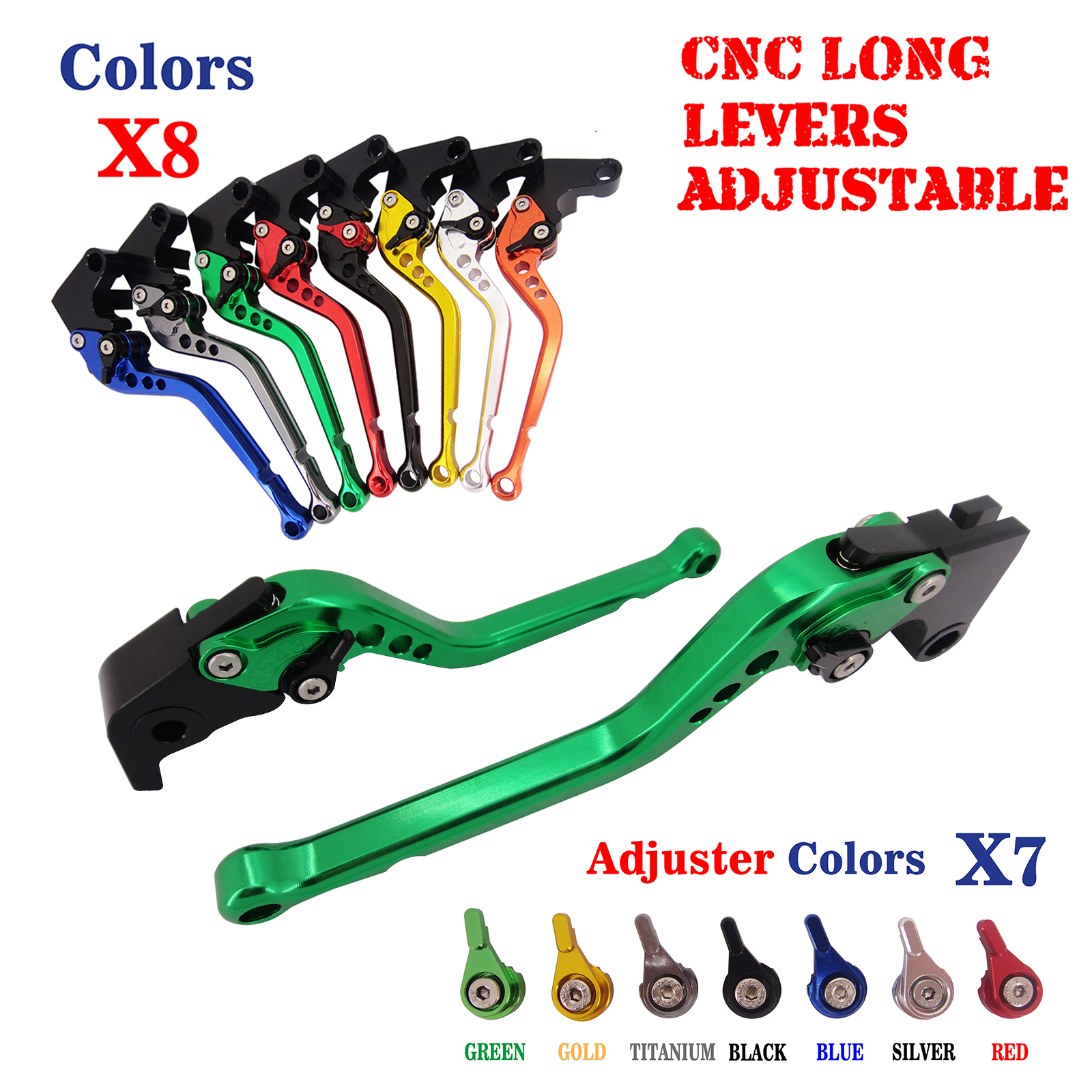 CNC Long Longy Adjustable Brake Clutch Levers For Kawasaki NINJA 650R /ER-6F/ER-6N 2009-2016 Versys 650 09-14 Ninja 400R 2011 стоимость