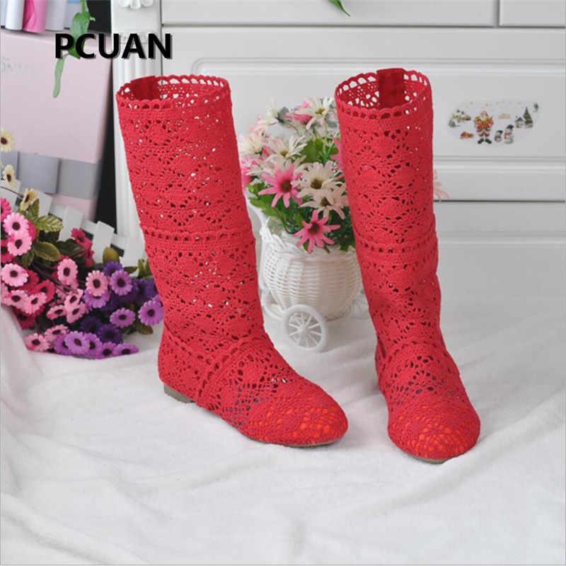 ผู้หญิงฤดูใบไม้ผลิรองเท้าผ้าขนสัตว์ hollow รองเท้าแฟชั่นแบรนด์หรูฤดูร้อนลูกไม้สีขาวรองเท้าผู้หญิงกลวงแบนรองเท้า