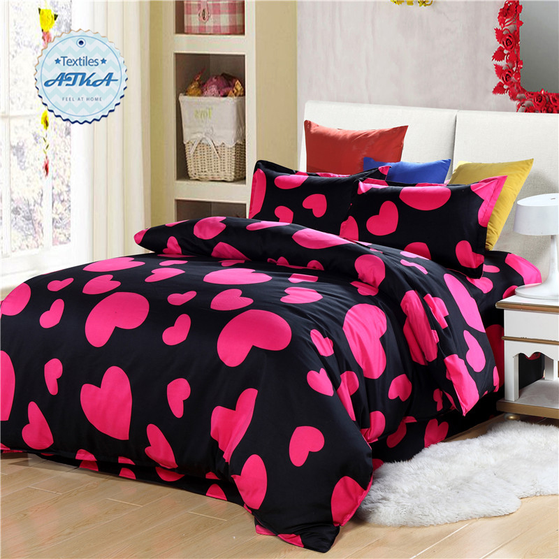 love heart bedding sets 3pcs4pcs twin full queen star starry sky duvet cover set - Twin Bed Comforters