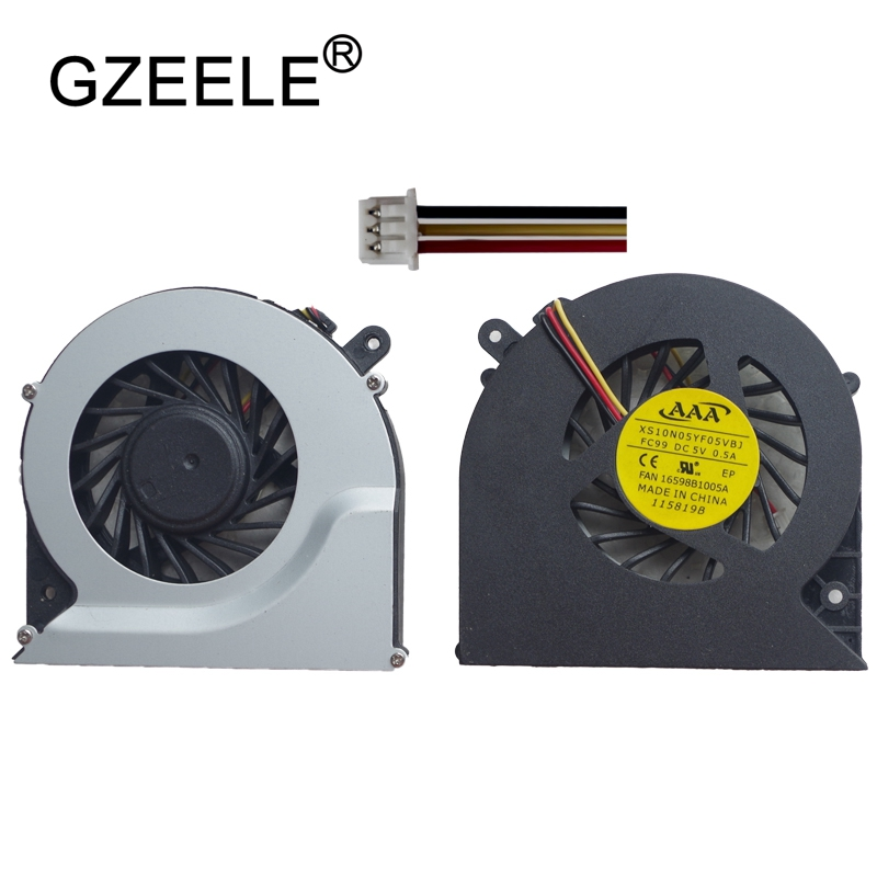 GZEELE new Laptop cpu cooling fan for Toshiba for Satellite C850 C855 C870 C875 L850 L870 L870D 3 Pin CPU Cooler Power 5V 0.5A image