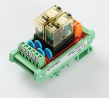 2 way SPDT-1C conversion contact relay module PLC magnifying plate RT-K02C 24V non-polar input safety relay g9sx ns202 rt