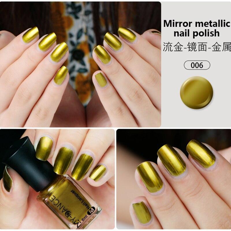 MYDANCE New Trend Metal Mirror Nail Polish 6ml 5 colors Nail Art ...