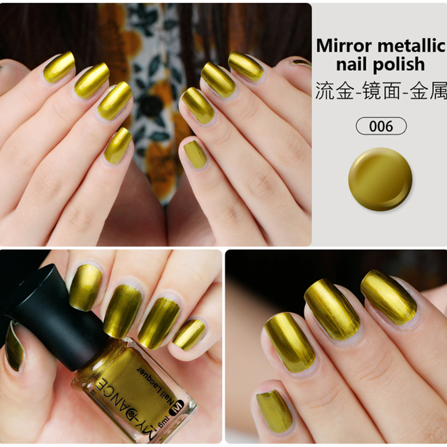 MYDANCE New Trend Metal Mirror Nail Polish 6ml 5 colors Nail Art ...
