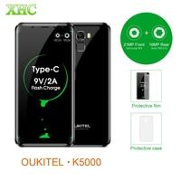 OUKITEL K5000 21MP 16MP Smartphones 5 7 5000mAh Android 7 0 MTK6750T Octa Core RAM 4GB