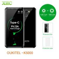 OUKITEL K5000 21MP 16MP Smartphone 5 7 5000mAh Android 7 0 MTK6750T Octa Core RAM 4GB