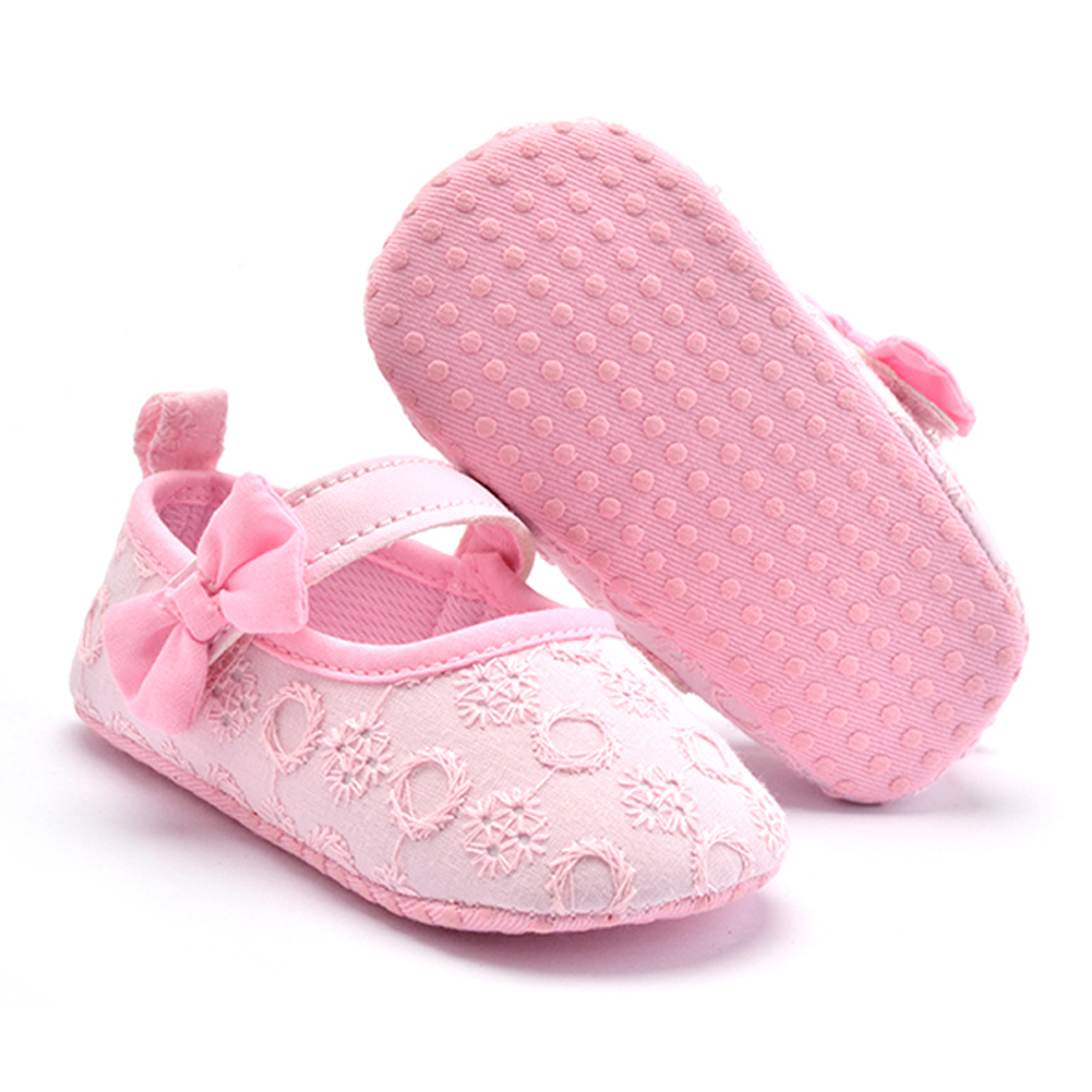 Shoes First-Walkers Newborn-Baby Girls Cotton New-Fashion for 3-12-Month Belt Bowknot