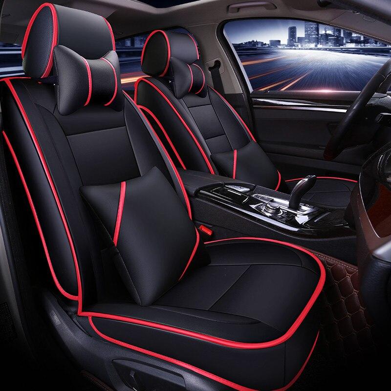 Новые настройки сиденья общие Подушки из искусственной кожи автомобильный коврик автомобиля Стайлинг для BMW Audi Honda Ford Nissan седан внедорожник
