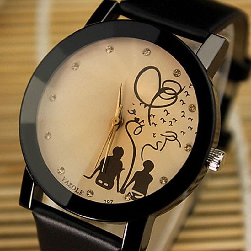 Top Brand Yazole Lovers' Watch Women Men Wrist Watches Unisex Fashion Crystal Quartz Watch Fashion Clock Saat Relogio Feminino
