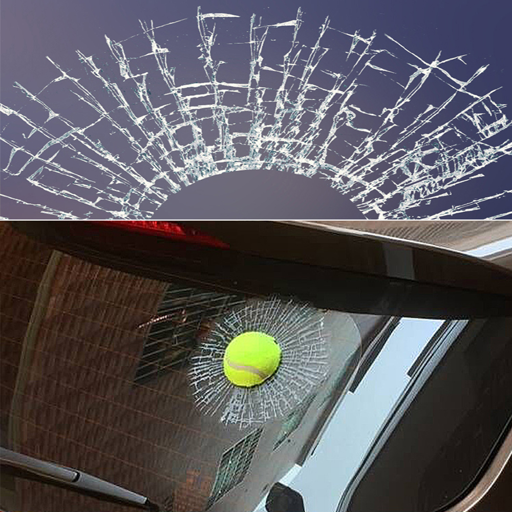 Image 2 - 3D Car Stickers Funny Auto Car Styling Ball Hits Car Body Window Sticker Self Adhesive Tennis Decal Accessories-in Car Stickers from Automobiles & Motorcycles