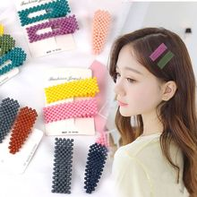 2019 New Fashion Korea Hairpins Beads Hair Clips Barrettes Wedding Hairwear For Women Accessories Hairgrips Styling Tool