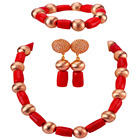 Red Coral Necklace S...