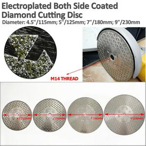 Image 2 - SHDIATOOL 1 pc Elettrolitico del diamante taglio disco di macinazione Entrambi I Lati rivestito di diamanti lama di granito di marmo di Taglio Ruota