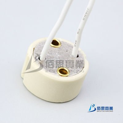 50x GU10 Ceramic Lamp Holder Base Socket Wire Connector Free Shipping