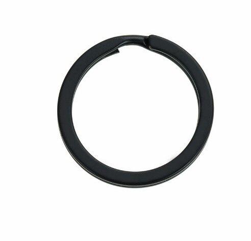 100 piunids/lote 25mm 30mm negro llavero Split Ring (nunca se decolora) llaveros para bolso llavero Diy joyería que hace Sleutelhanger llavero