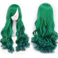 best quality cheap soft wigs cosplay rapunzel lolita ombre wig green wig heat resistant synthetic hair curly wigs for daily wear